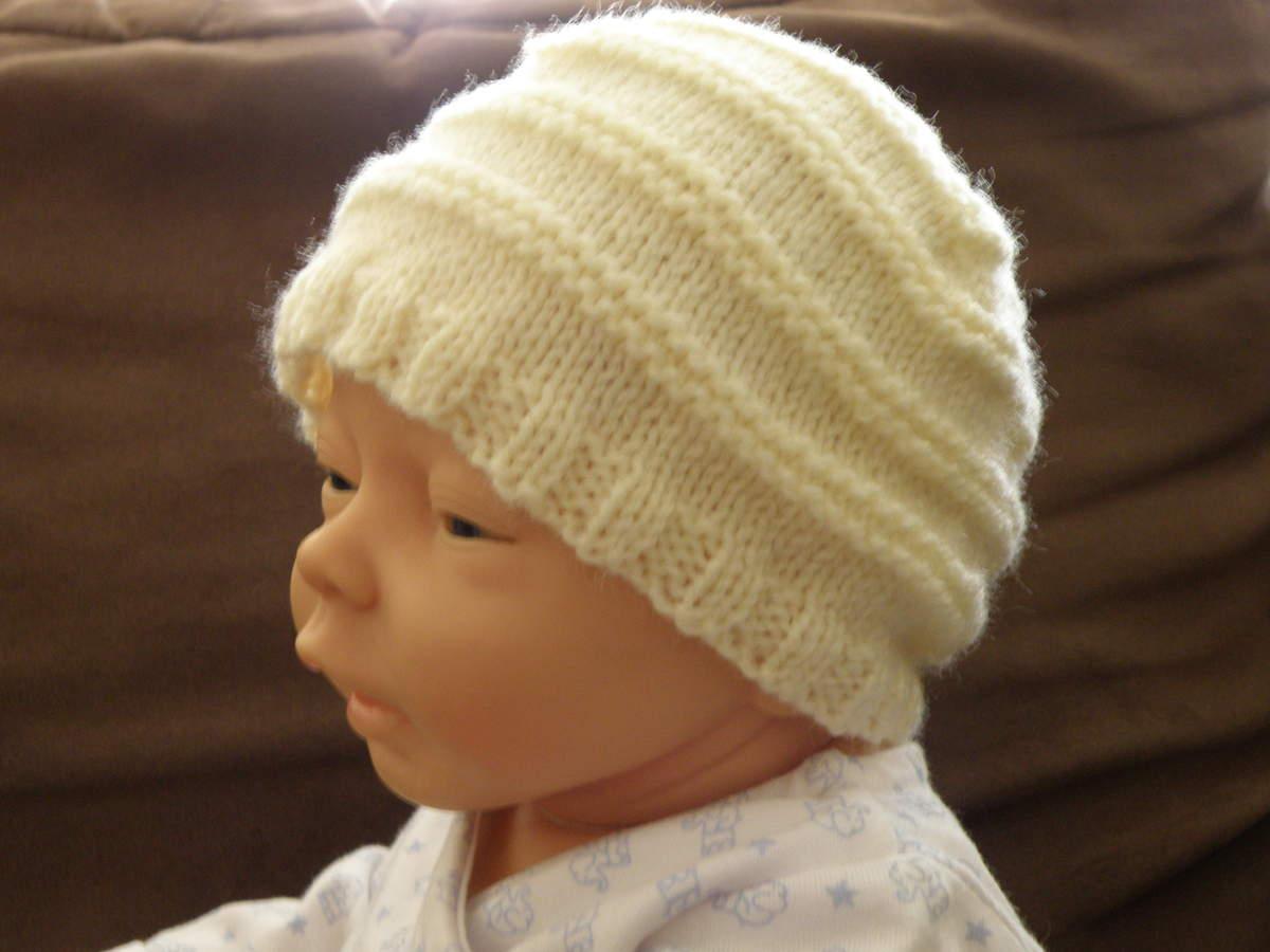 Super Tricot bonnet ourson bébé - Chapka, doudoune, pull & Vetement d'hiver HR93