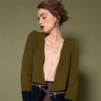 modele tricot gilet court femme gratuit