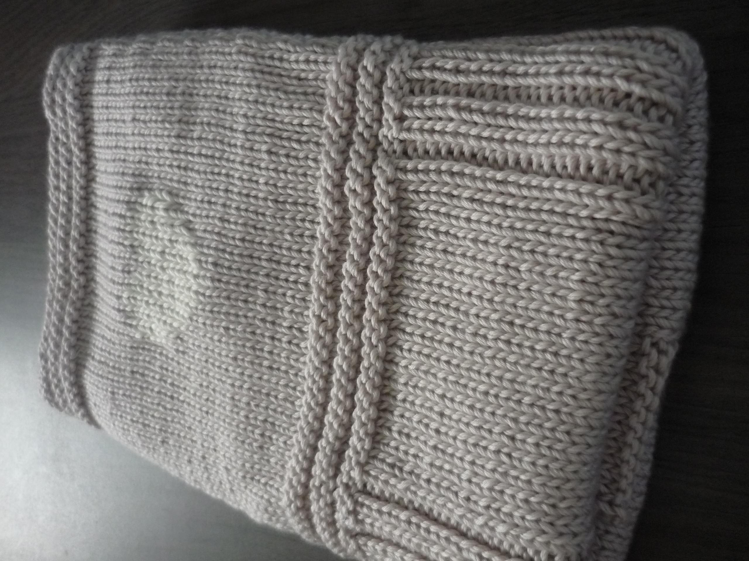 modele de couverture au tricot gratuit