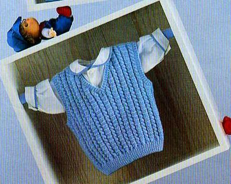modele gratuit tricot debardeur garcon
