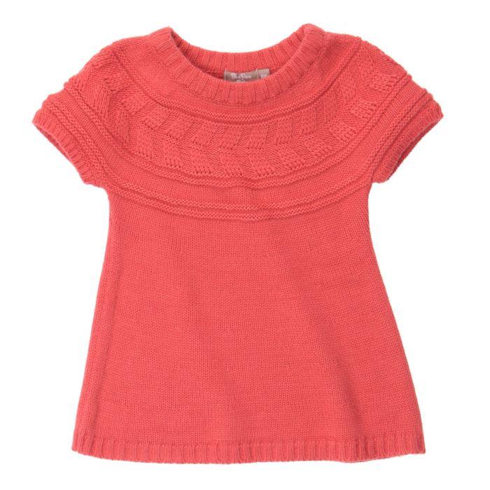 modele gratuit tricot robe fille 2 ans