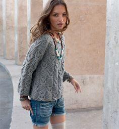 modele de pull a tricoter gratuit fille