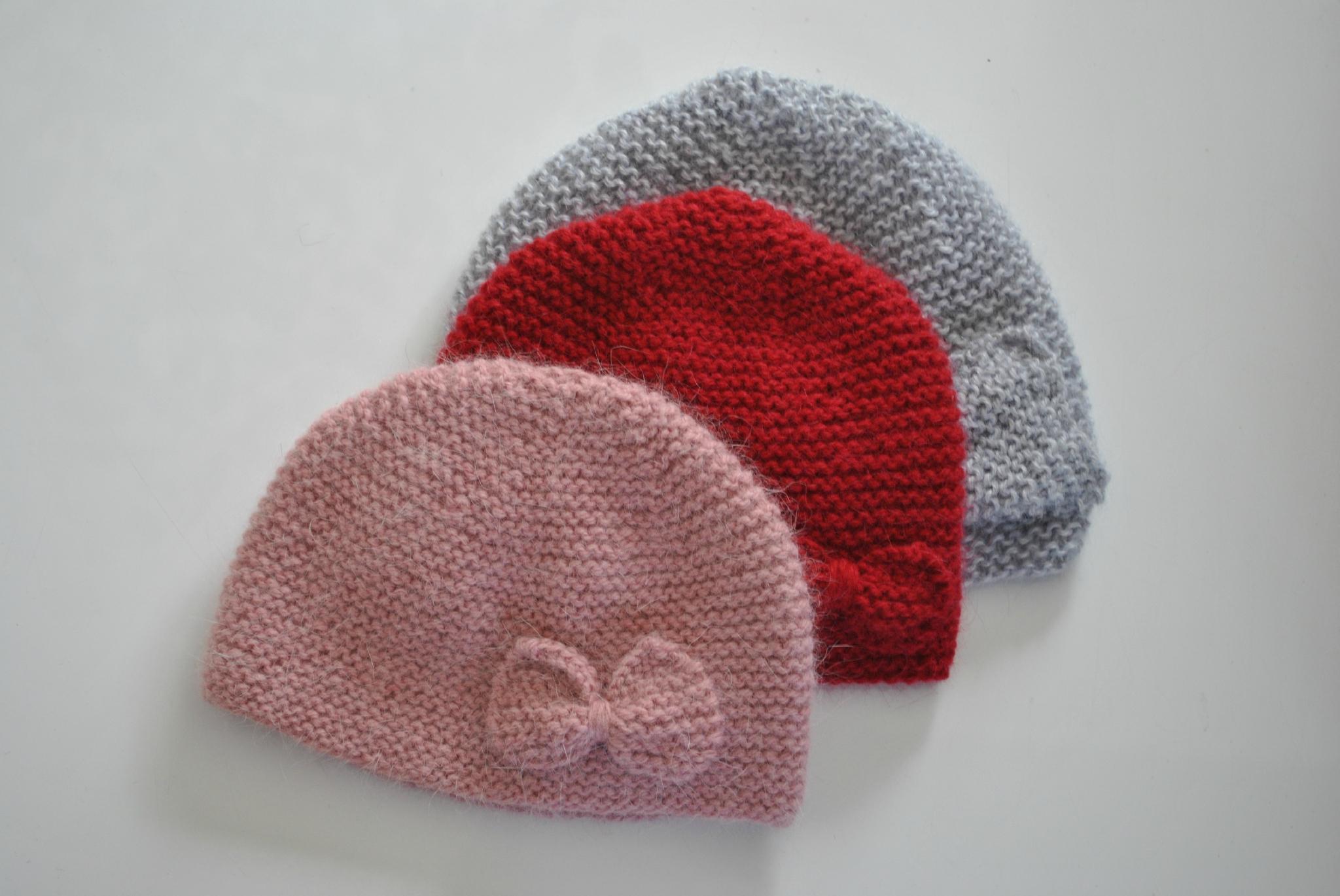 Célèbre Tricot bonnet ourson bébé - Chapka, doudoune, pull & Vetement d'hiver EA33