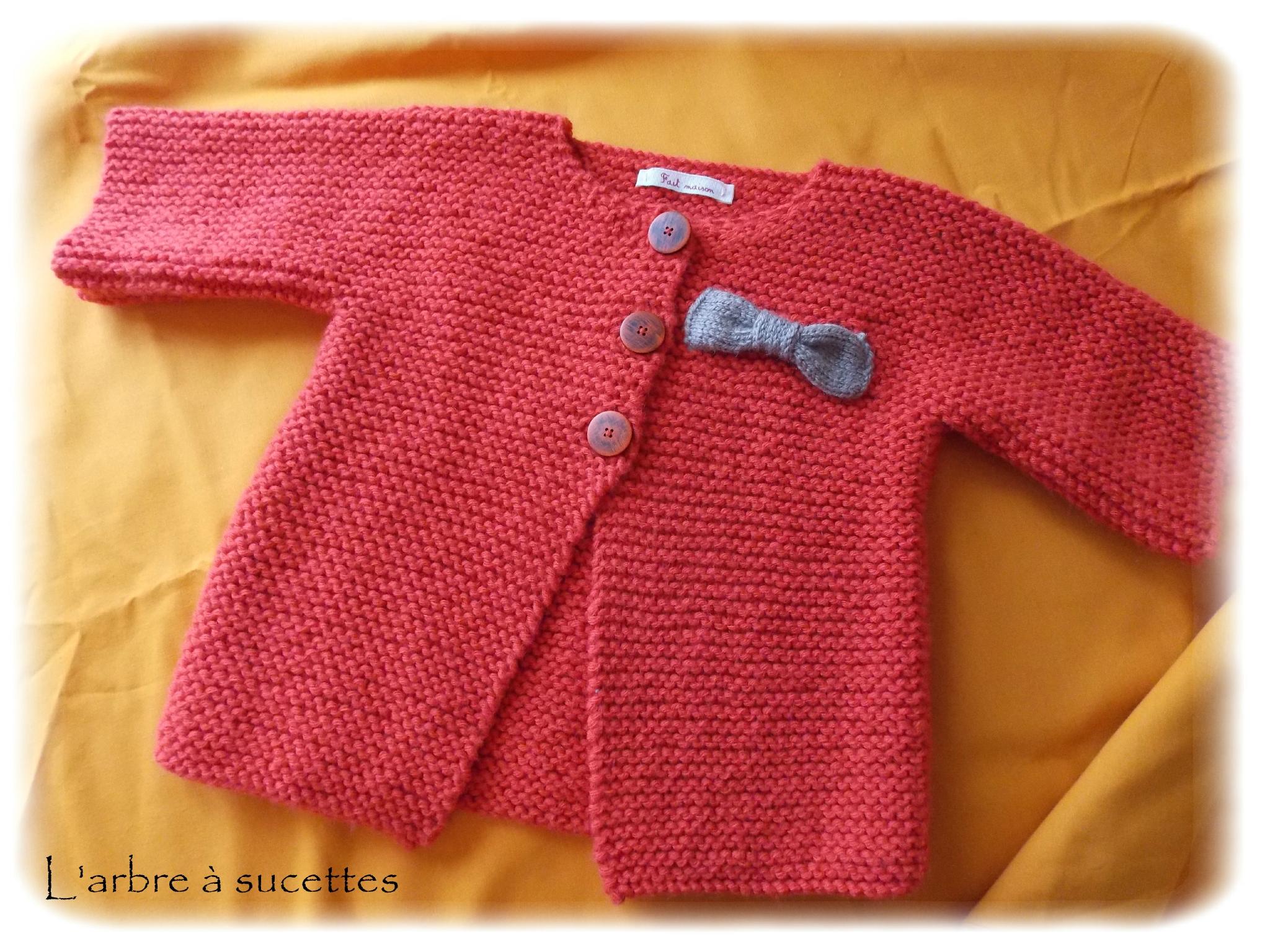 cc073f4b67143 Gilet tricot bebe fille - Chapka