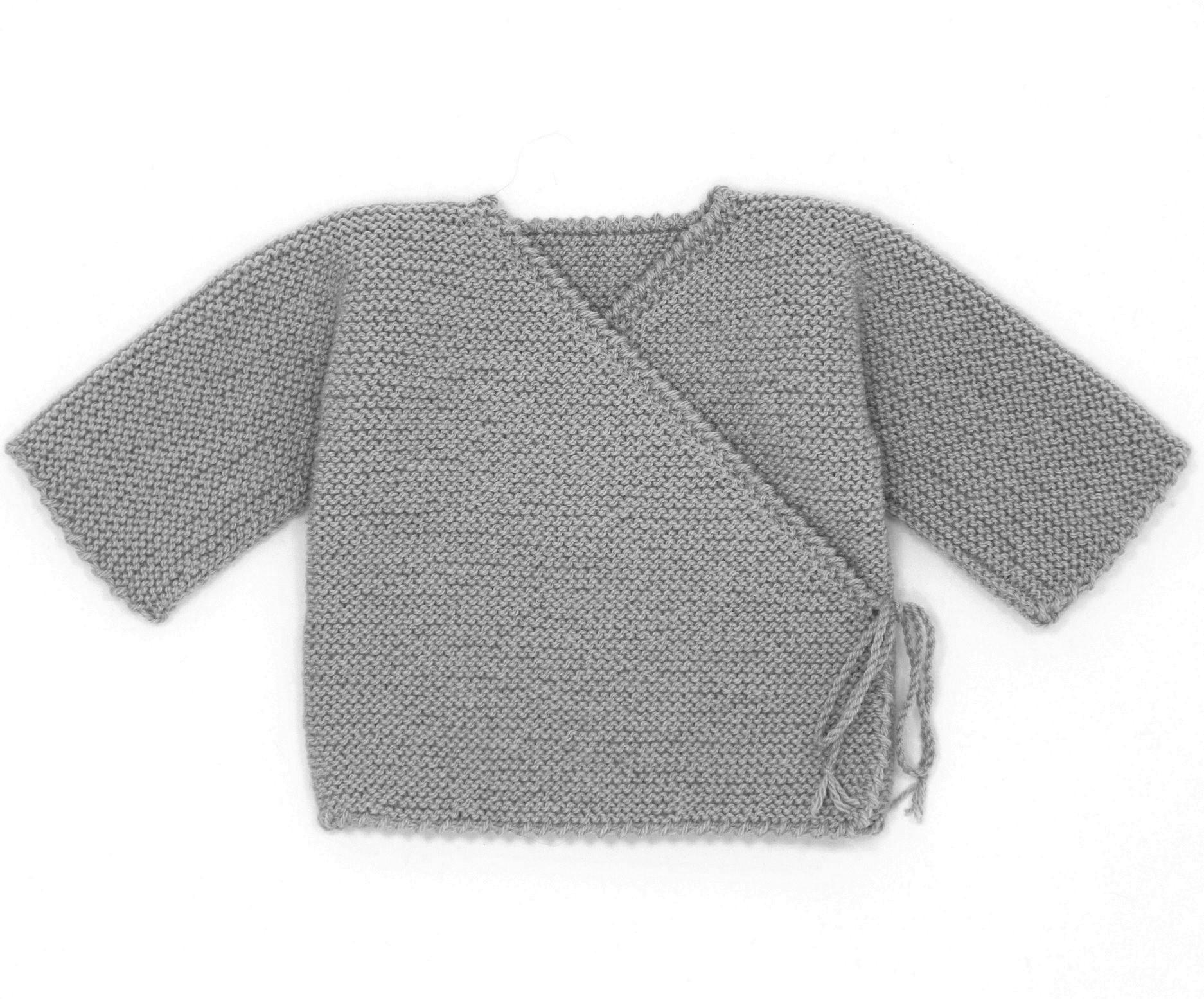 Brassiere bebe garcon tricot kit naissance laine   Distrivet 33dadd7b6cb