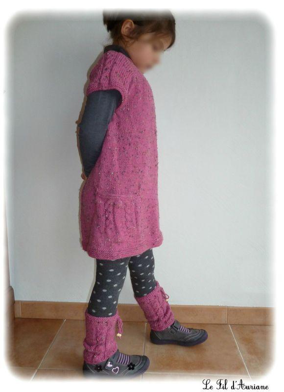 modele gratuit tricot robe 2 ans