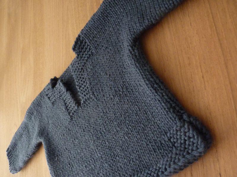 modele pull a tricoter gratuit enfant