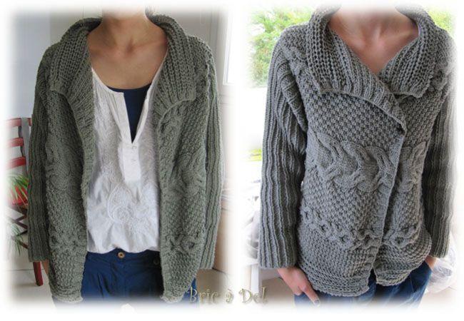 modele de veste au tricot