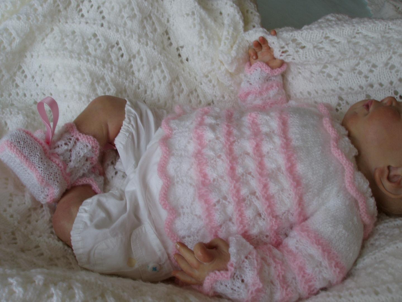 Extrêmement Brassiere bebe tricot main - Chapka, doudoune, pull & Vetement d'hiver VK79