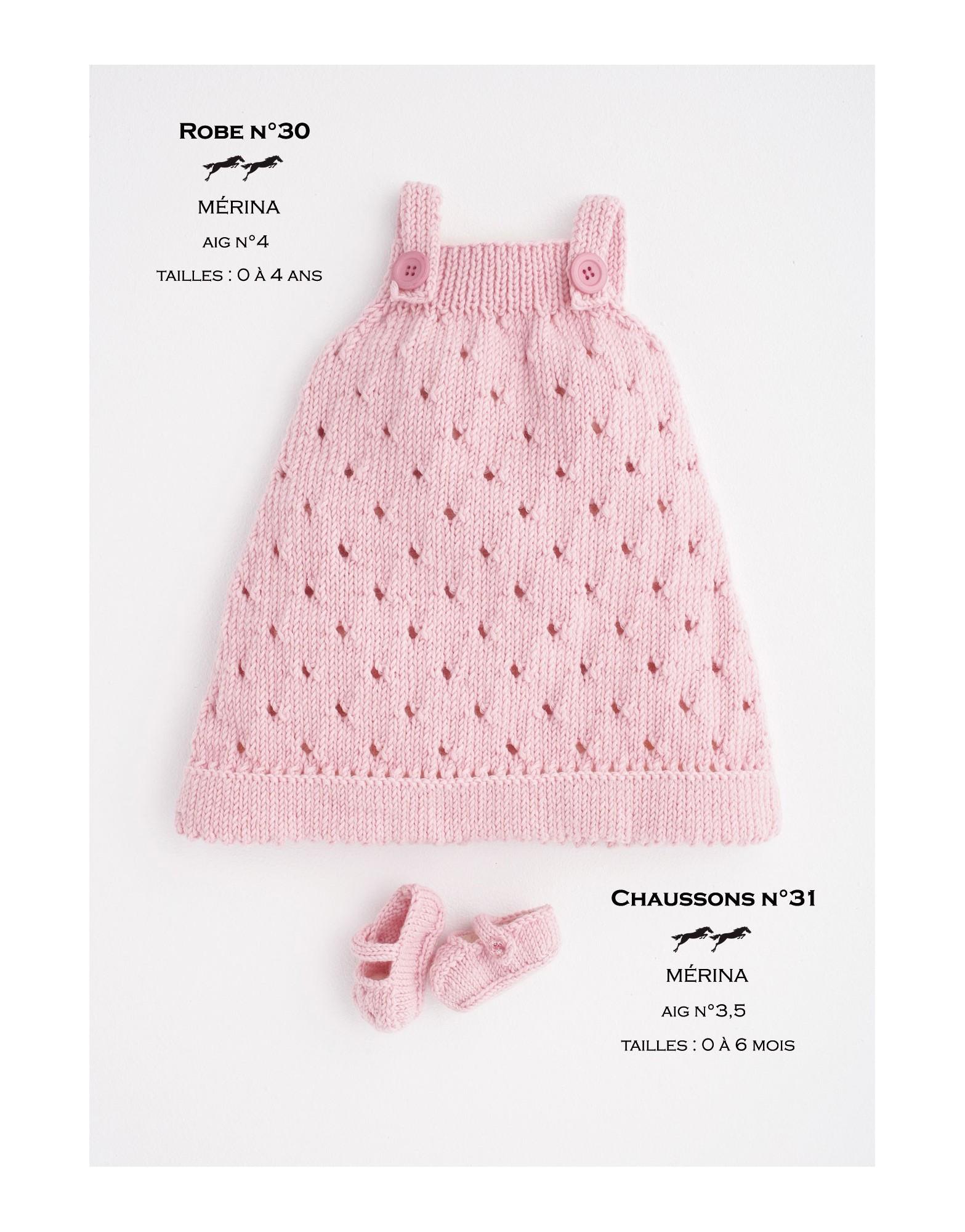 Beliebt Robe layette à tricoter explications gratuites - Chapka, doudoune  ID78