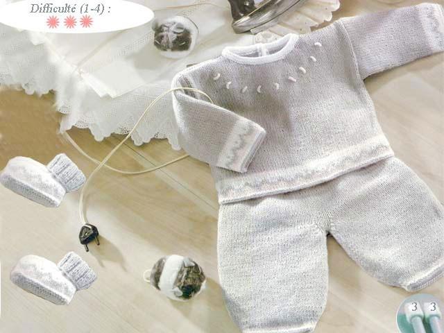 modele tricot layette