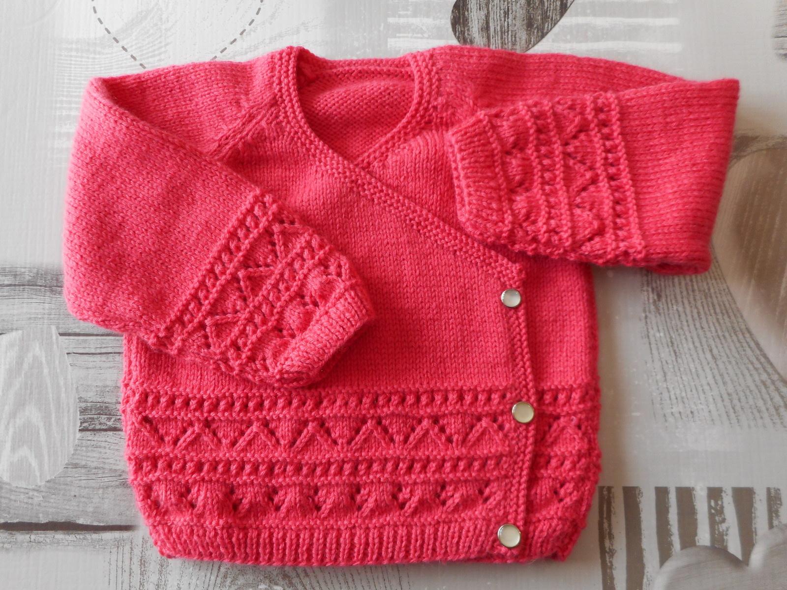 Populaire Manteau tricot bebe fille - Chapka, doudoune, pull & Vetement d'hiver KQ71