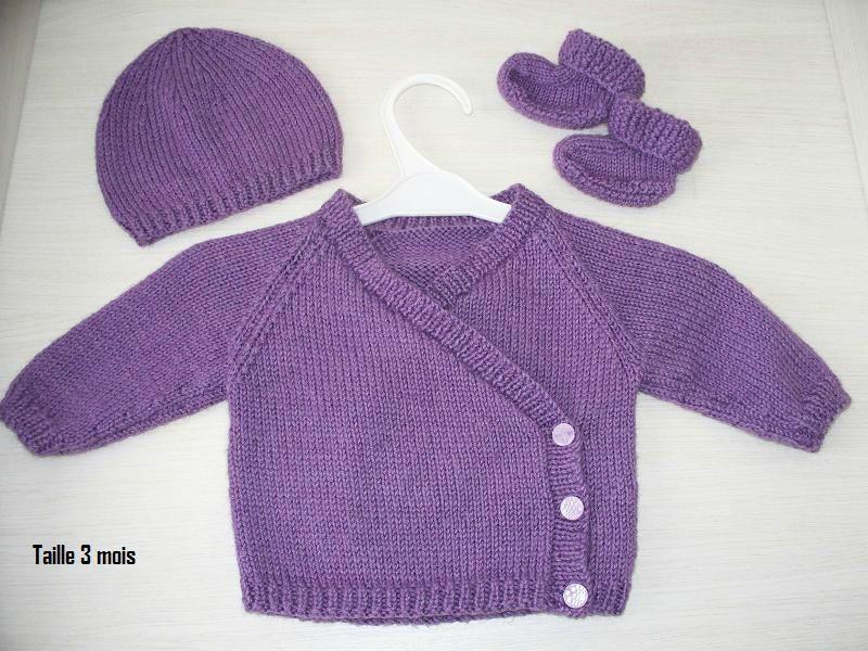 modeles de layette a tricoter