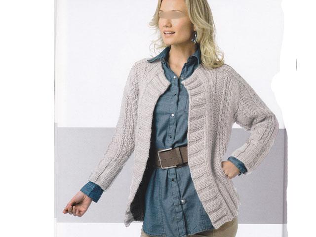 modele de veste a tricoter