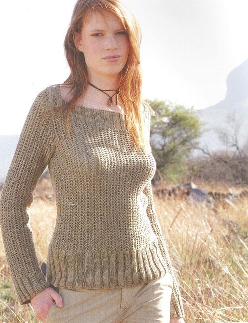 modele pull gratuit tricot