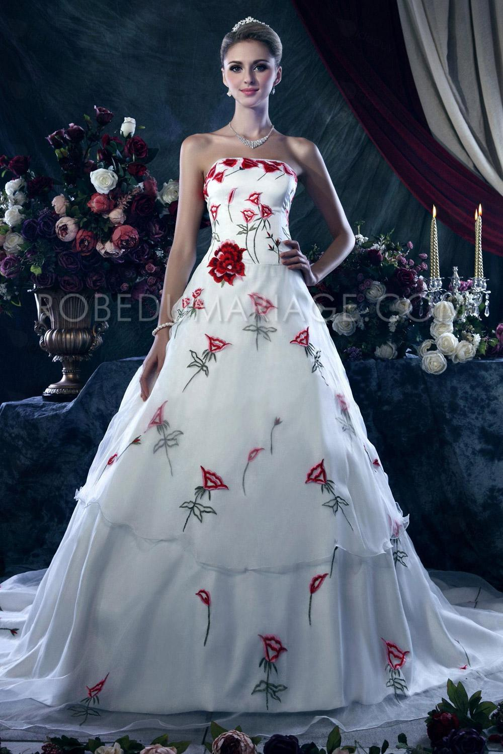 Robe mariage couleur or