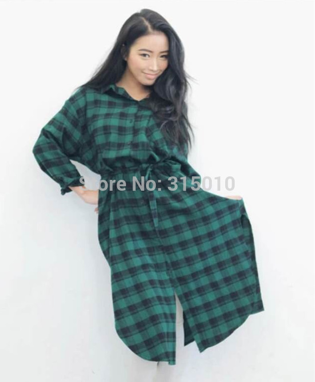 Chemise à carreaux longue femme   Getupandgo f256531df51