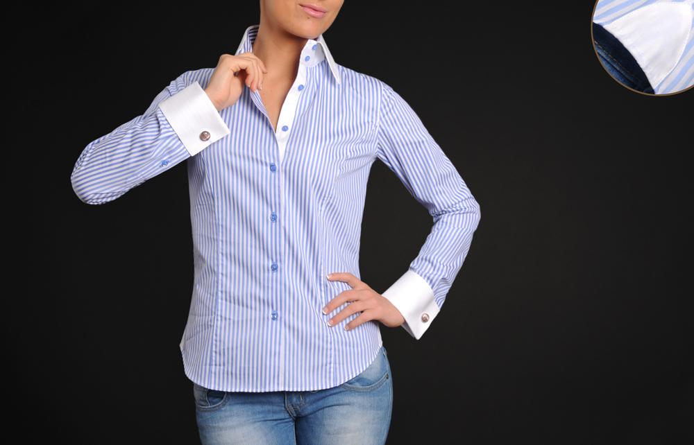 chemise femme a bouton de manchette chapka doudoune. Black Bedroom Furniture Sets. Home Design Ideas
