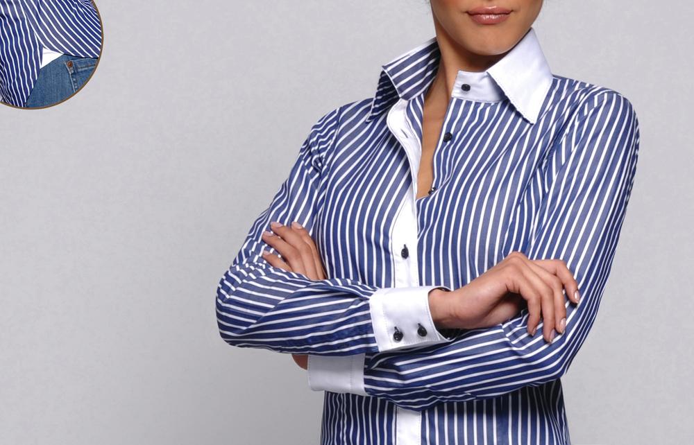 e1cb061a3130 Chemise blanche rayée bleu femme chemise a rayure bleu femme ...