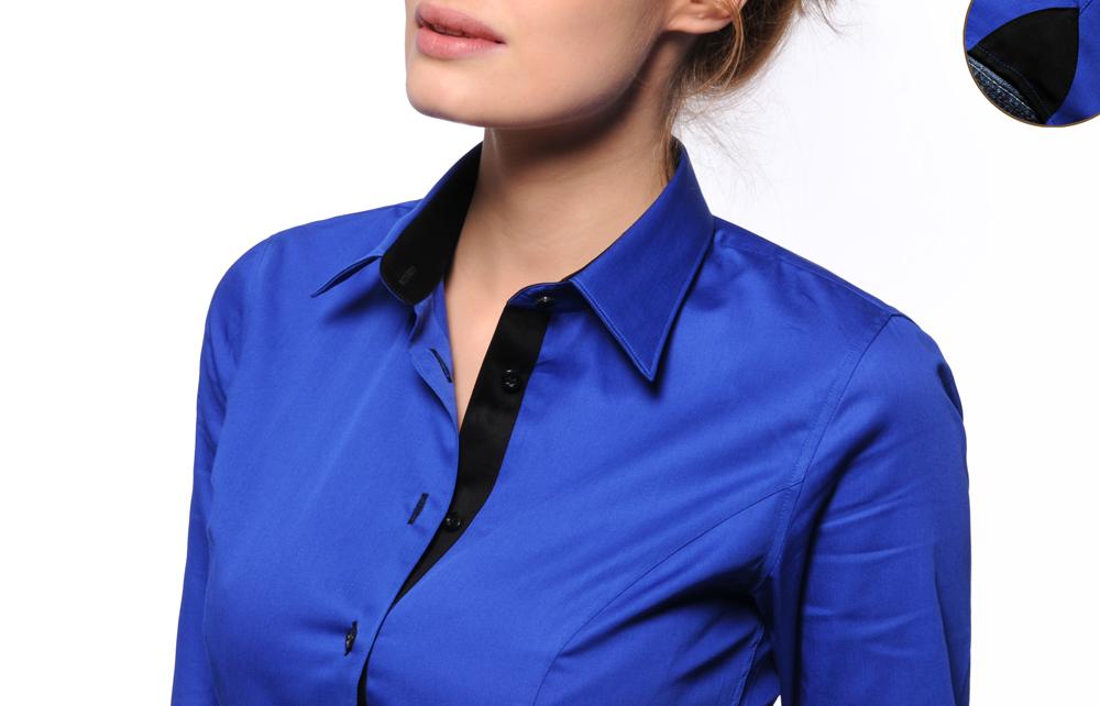 1d33929ed2d0 Chemise bleu roi femme - Vetement fitness et mode
