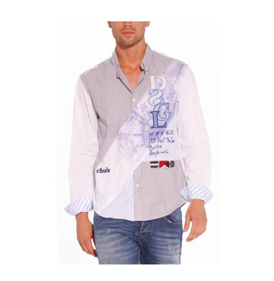 chemise desigual homme xl,CHEMISE MANCHES LONGUES DESIGUAL b53cb5a29955