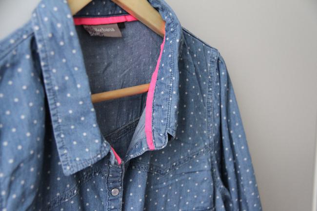 chemise jean pois femme chapka doudoune pull vetement d 39 hiver. Black Bedroom Furniture Sets. Home Design Ideas