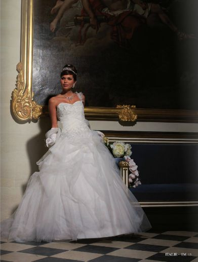 Robe de mariée italienne