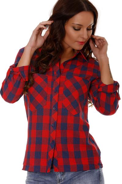Chemise Rouge A Carreaux Femme Sodeports