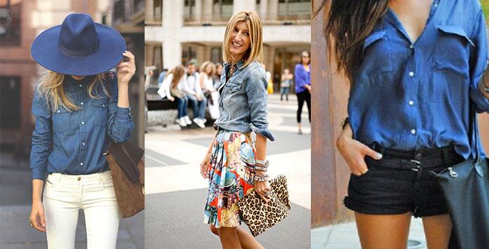 Chemise en jean femme quoi mettre avec