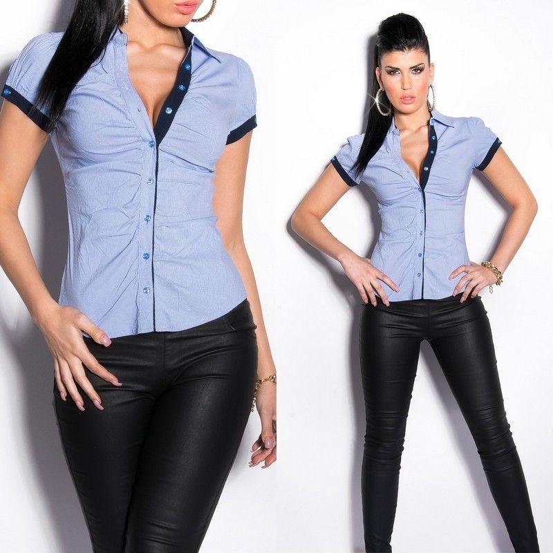 Chemise couleur jean femme