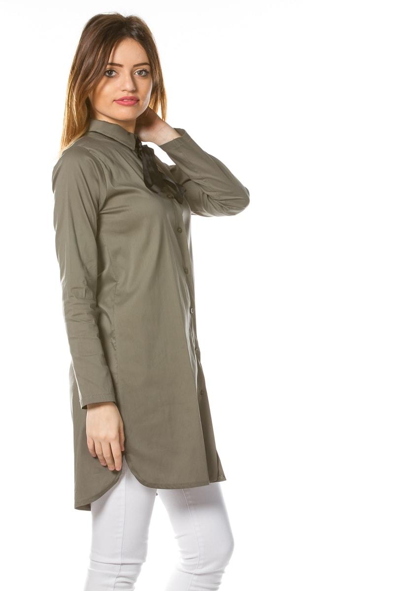 chemise longue fluide femme chapka doudoune pull vetement d 39 hiver. Black Bedroom Furniture Sets. Home Design Ideas