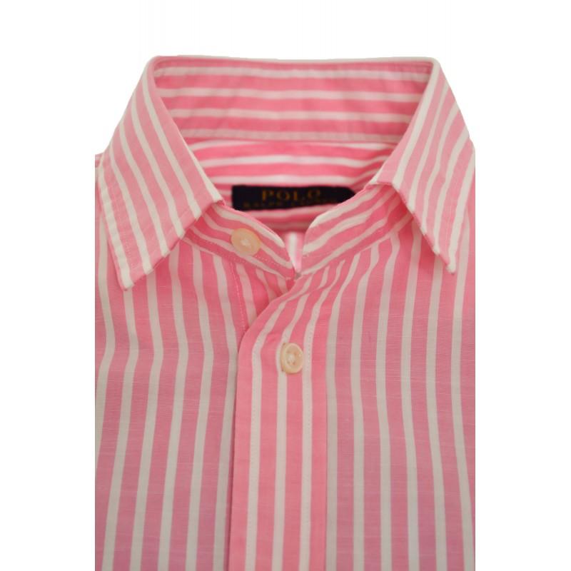 chemise ralph lauren bleu raye 12b59bc76b1