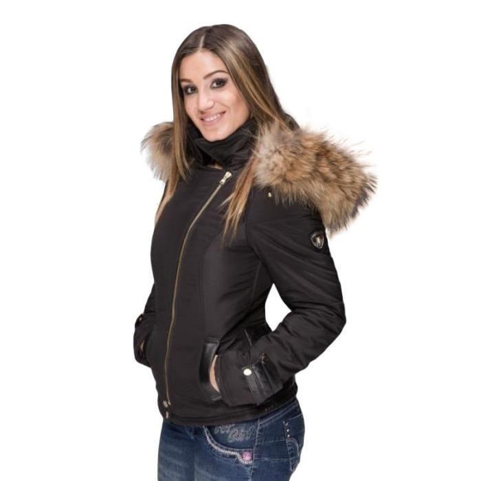 Femme Fourrure Vetement Capuche Cuir Veste Mode Et Fitness Avec 5wx71CCq