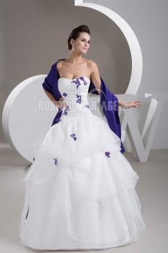 Robe bleue et blanche mariage