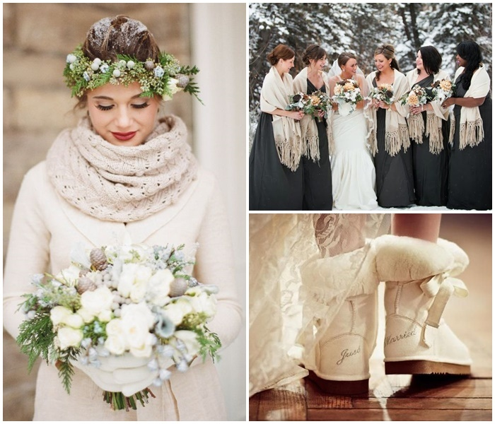 Robe mariage l'hiver