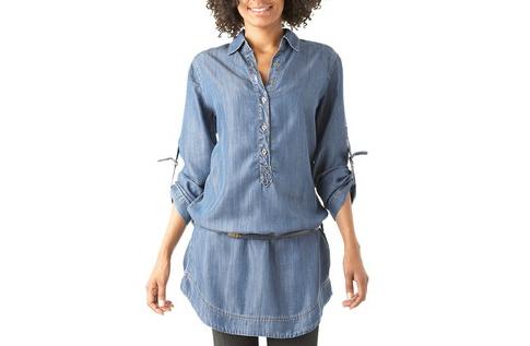 chemise tunique en jean femme chapka doudoune pull vetement d 39 hiver. Black Bedroom Furniture Sets. Home Design Ideas
