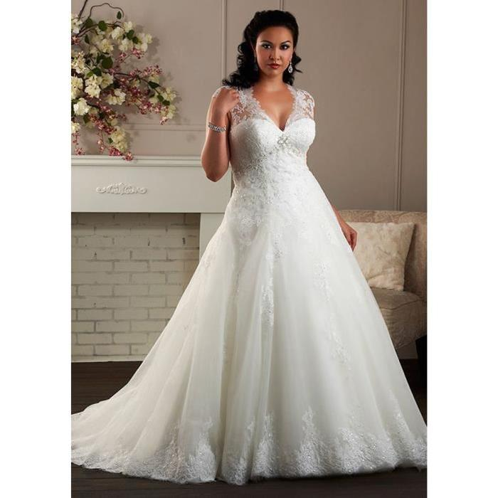 Robe de mariee taille xl for Robes de taille plus pas cher pour les mariages