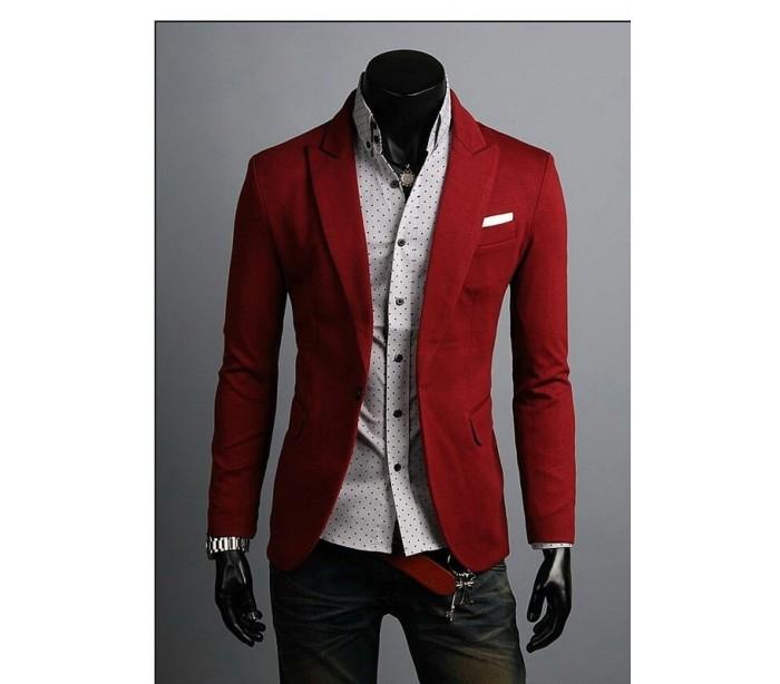 Veste de sport rouge homme
