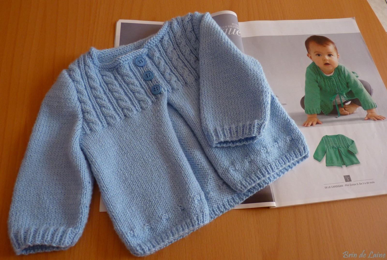 ce33b6397fcb4 Je veux trouver un joli tricot pour mon bébé ou à offrir pas cher ICI Modele  gratuit layette