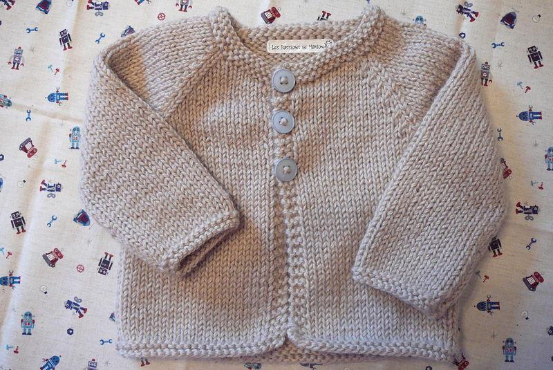 1290f135925d8 Modele tricot gilet bebe 1 mois - Chapka