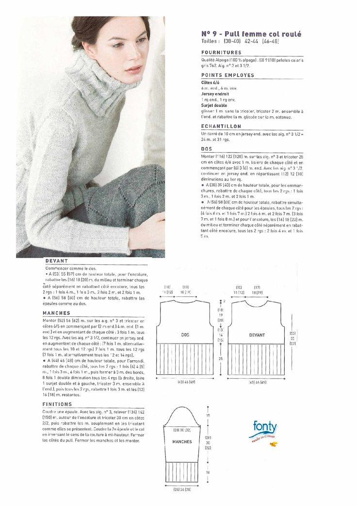 20436acaf791 Je veux trouver un bon vêtement tricot femme de qualité et pas cher ICI  Modele tricot pull femme jersey