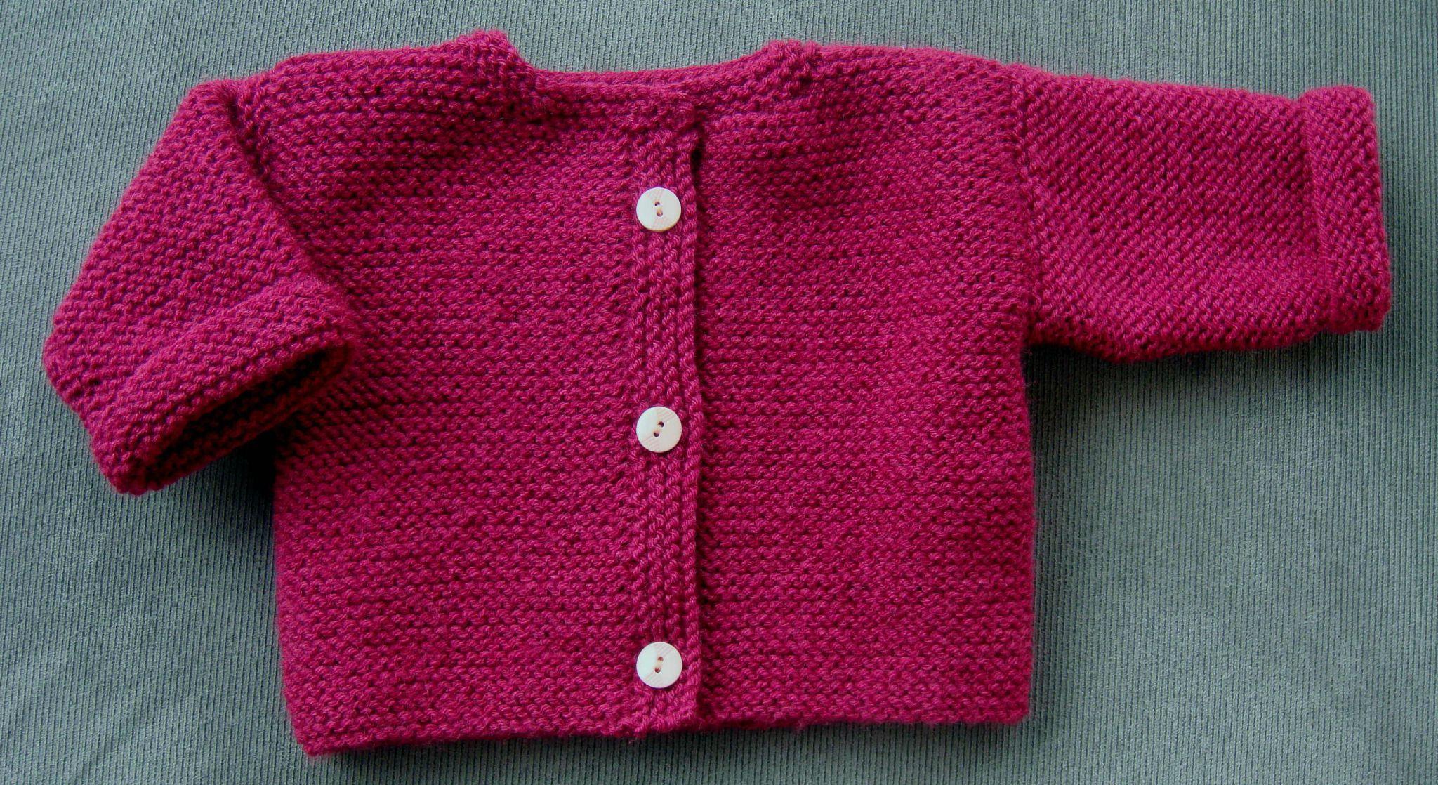 5c88f0572d1d8 Modèle gilet tricot bébé - Chapka