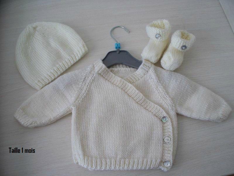 477c911f063fb Modele gratuit tricot layette naissance - Chapka