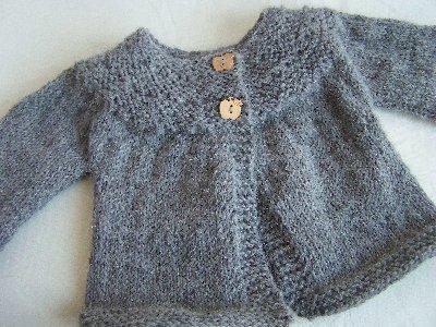 32a59e89d4e33 Gilet bébé fille a tricoter - Chapka