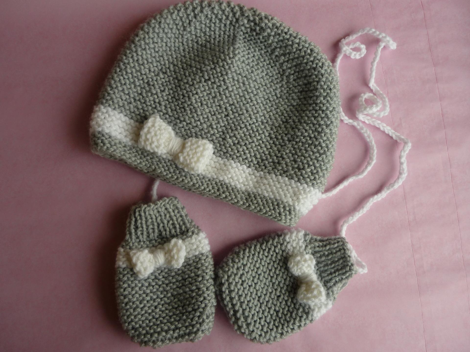 fec5817b8ca Tricot moufles bébé naissance - Chapka
