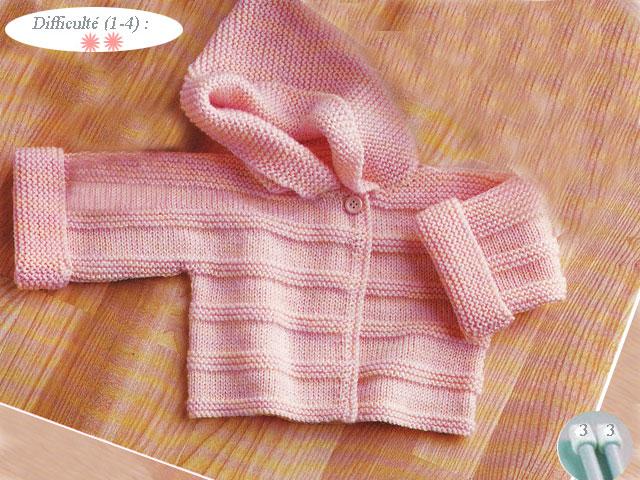 096f33714dfce Modele tricot layette facile gratuit · tricot bebe