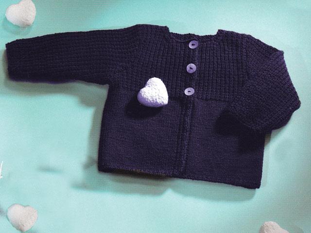34593153a7193 Modèle gilet tricot bébé fille - Chapka