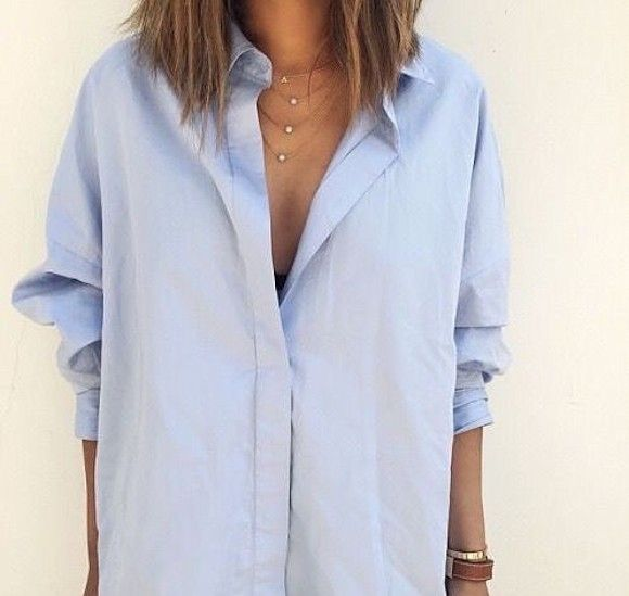 76c0635ecd9c Je veux trouver une belle chemise femme et agréable à porter pas cher ICI  Chemise femme bleu ciel