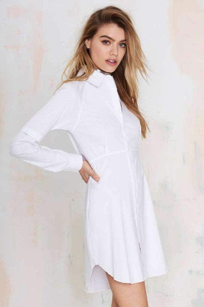Je veux trouver une belle chemise femme et agréable à porter pas cher ICI  Chemise blanche femme longue 71e6479c0a4b