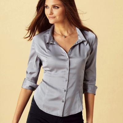2cb7bd94d517c Je veux trouver une belle chemise femme et agréable à porter pas cher ICI  Chemisier satin femme